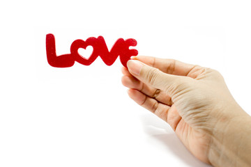 love word on white background