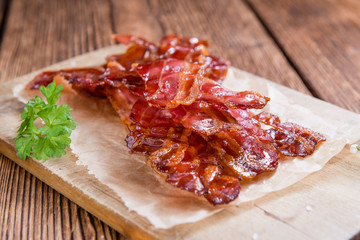 Portion of fried Bacon