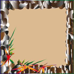 Frame of sea pebbles