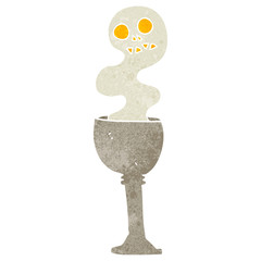 retro cartoon spooky halloween goblet