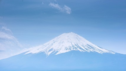 Fototapete - 4k timelapse, Fuji mountain view, Japan