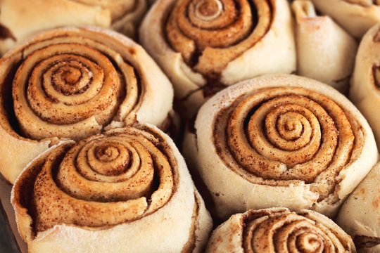 Fresh baked at home cinnamon rolls