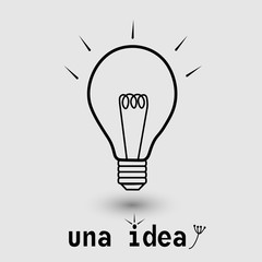 Una idea illustration