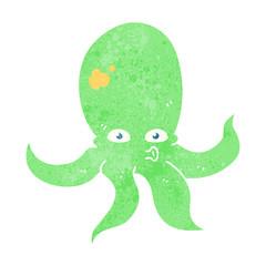 retro cartoon octopus