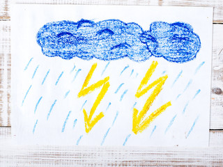 colorful drawing: thunderstorm