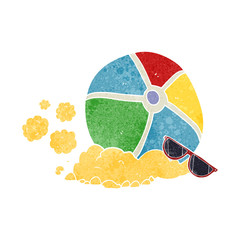retro cartoon beach ball