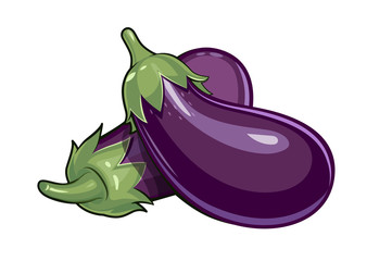 Couple of eggplants