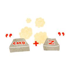 retro cartoon command Z function