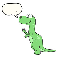 speech bubble cartoon dinosaur