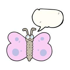 speech bubble cartoon butterfly