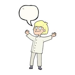 speech bubble cartoon chef