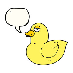 speech bubble cartoon duck