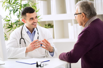 Experienced doctor and patient