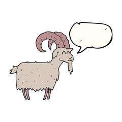 speech bubble cartoon goat