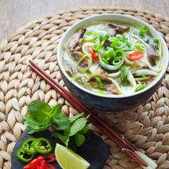 vegetarian vietnamese pho thom soup