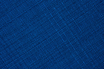 big Blue linen seamless texture in close-up (texture pattern for