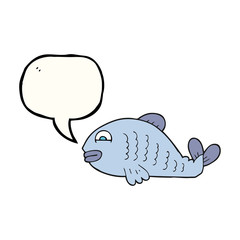 speech bubble cartoon fish