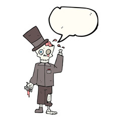 speech bubble cartoon posh zombie