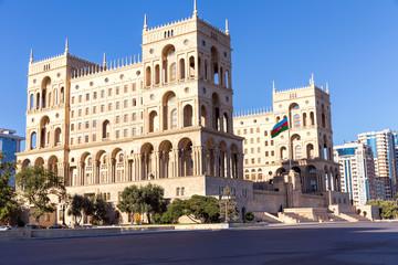 The Government house of Azerbaijan in Baku, Azerbaijan.
