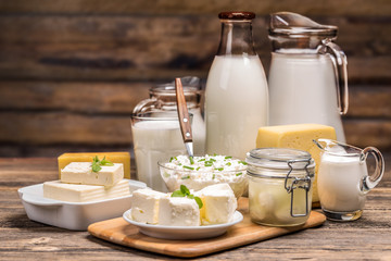 Foto op Canvas Zuivelproducten Still life with dairy product