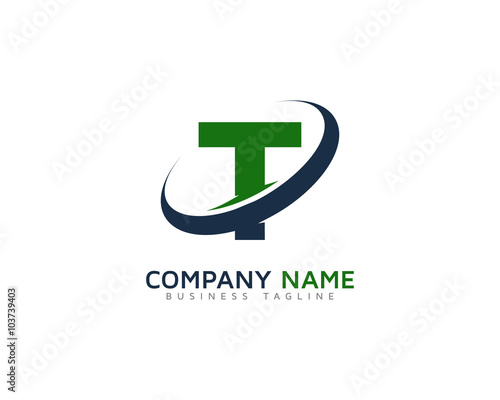 Letter t swoosh ring logo design template stock image and royalty letter t swoosh ring logo design template flashek Image collections