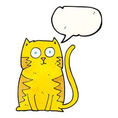 speech bubble textured cartoon cat