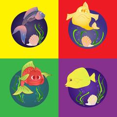 Set marine fish