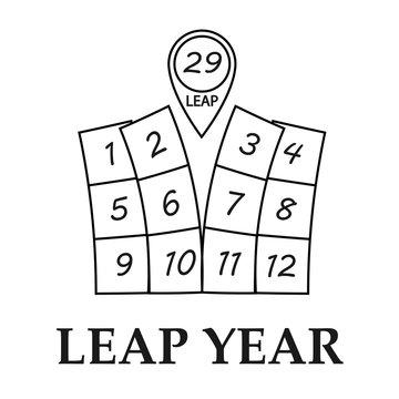 Leap year illustration