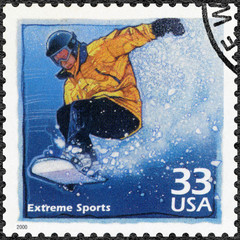 USA - 2000: Snowboarder, increased popularity in extreme sports