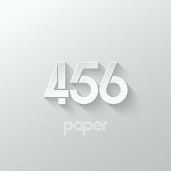 number four 4 five 5 six 6 logo paper set