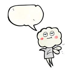 texture speech bubble cartoon cute cloud head imp