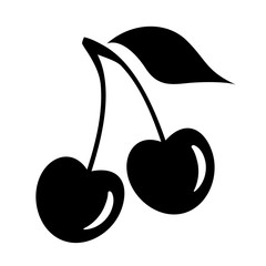 Cherry silhouette icon