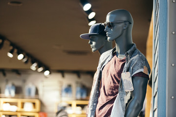 Male mannequin urban fashion