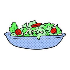 cartoon salad