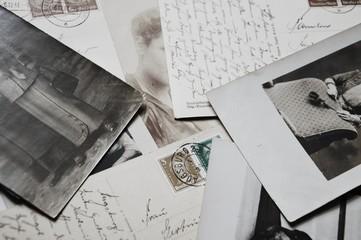 alte Postkarten und Fotos