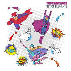 superheroes in comic style 2