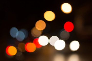 beauty and colorful bokeh