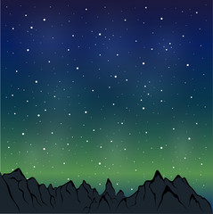 night mountain range