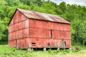 Rural Red Ohio Barn