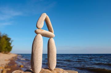 Perfect balance of pebbles