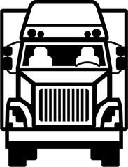 Truck Front black n white