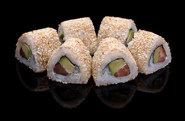sushi, rolls