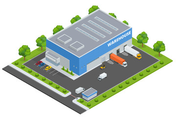 Set of flat vector on the theme of Logistics, Delivery,  Warehouse, Freight, Cargo, Transportation. Storage of goods.  Vector 3d isometric illustration