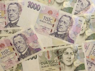 1000 and 2000 Czech koruna banknotes