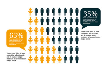 Infographic people design