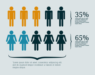Infographic people design