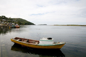 Wooden Boat - Ancud - Chile