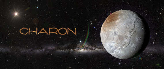 Charon in outer space.