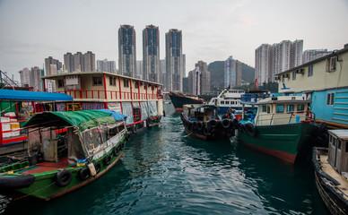 Fishing village of Aberdeen, Hong-Kong, China