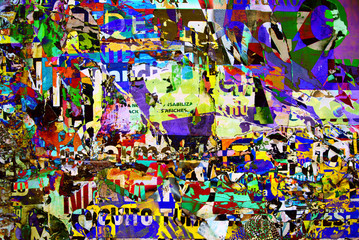 Background digital collage or typography design wallpaper textur